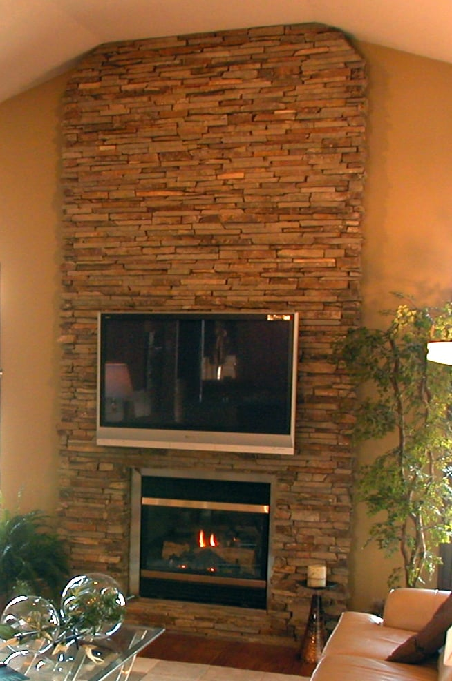 Natural Veneer Stone Gas Fireplace Yelp