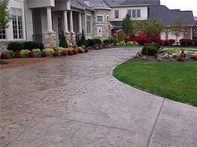 beautiful stamped concrete driveway yelp