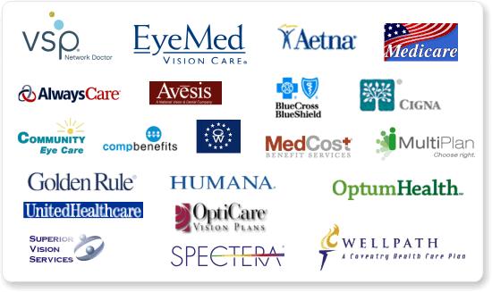 We accept most major vision plans including VSP, EyeMed ...
