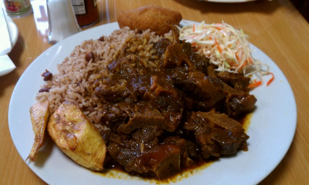 large oxtail w/ dirty rice and plantains  yelp