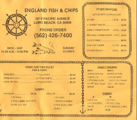 England Fish & Chips - Long Beach, CA, Verenigde Staten | Yelp