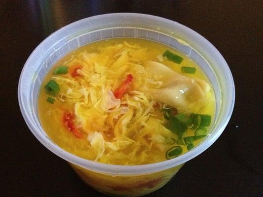 Wonton and egg drop soup   Yelp