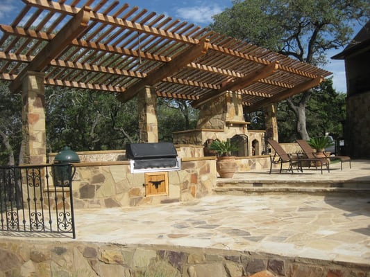 We also install custom pergolas, fireplaces, outdoor kitchens, and ...