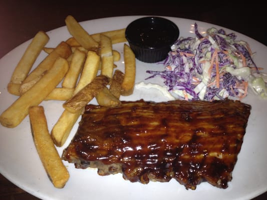 Rack of Baby Back Ribs, Java BBQ Sauce (Super), Steak Fries, and ...