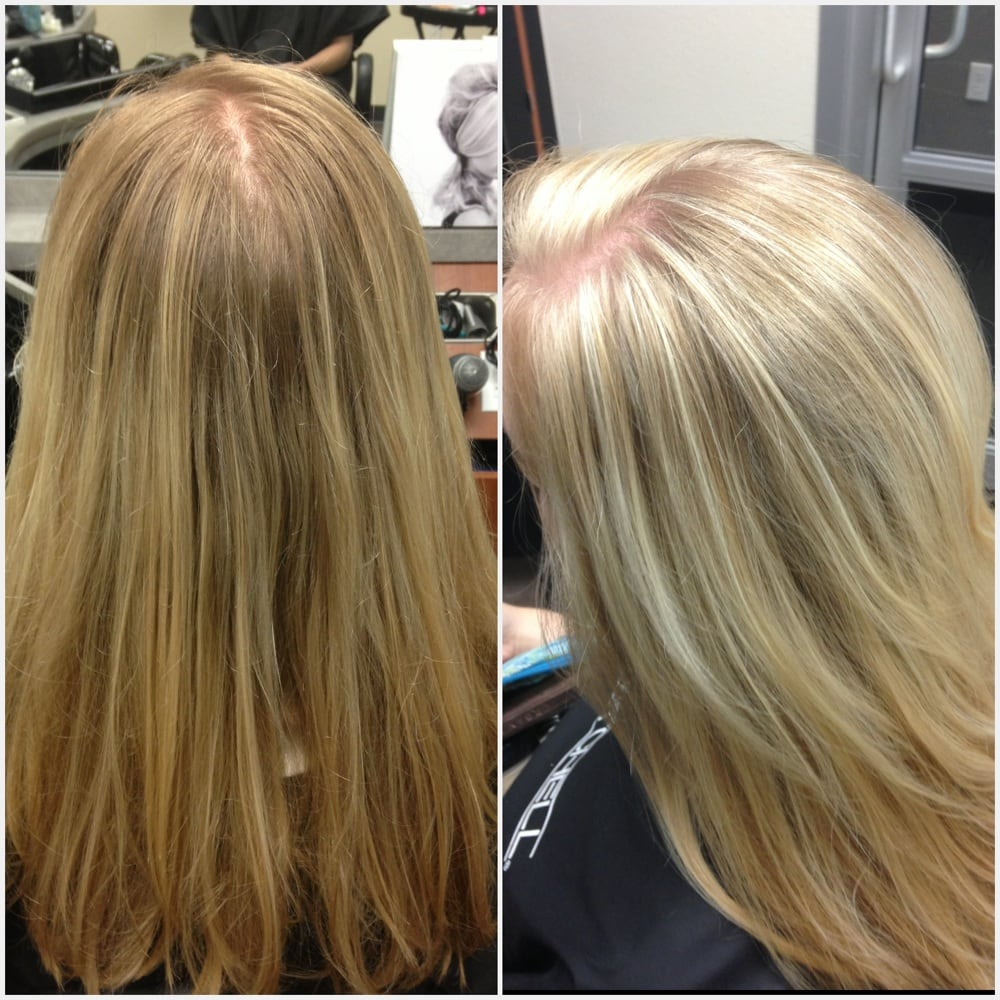 Golden blonde to frosty white highlights!   Yelp