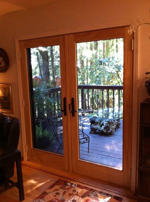Andersen 400 Series French Wood Patio Door Installed In
