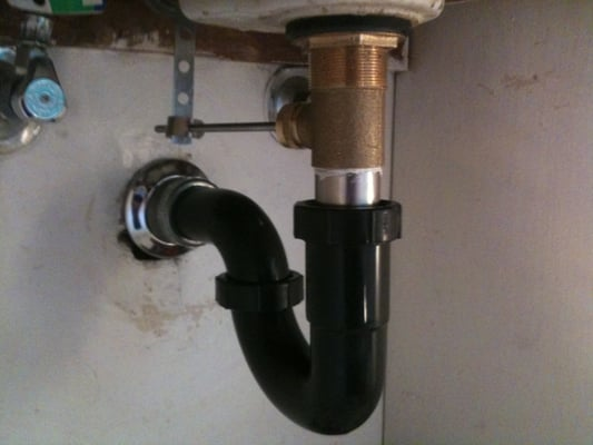 Installing drain plumbing under bathroom sink