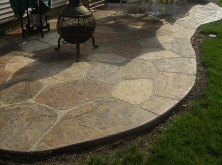 concrete patio paint ideas images