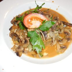 the game meat ravioli with mushrooms