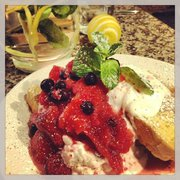 French Toast with Greek Yoghurt and home made Fruit Compote