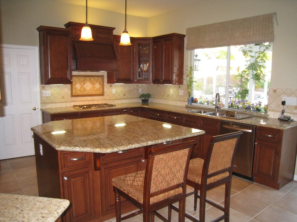 Arthur 39 s kitchen new kitchen classy cherry wood cabinets for Cherry wood kitchen cabinets