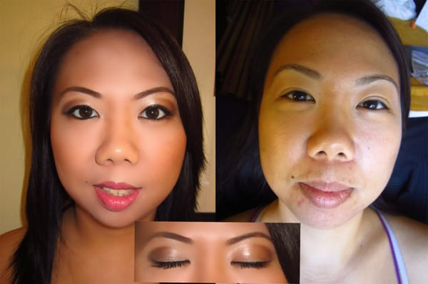 Airbrush Bridal Makeup Before And After : Before and after bridal Airbrush makeup ONLY USD70! Yelp