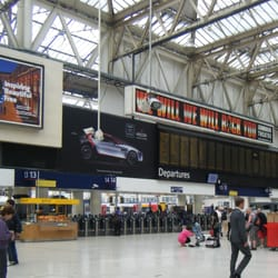 National Rail departure board