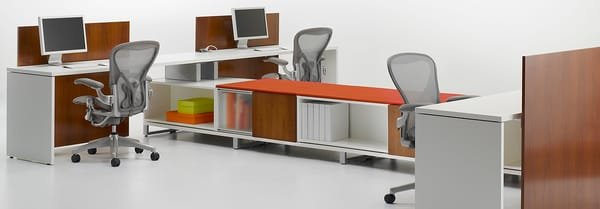 Canvas fice Landscape workstations by Herman Miller