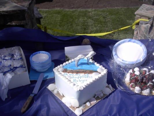 my bridal shower cake dolphin theme wedding