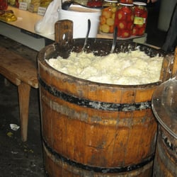 Ever see such a huge barrel of sauerkraut?!!