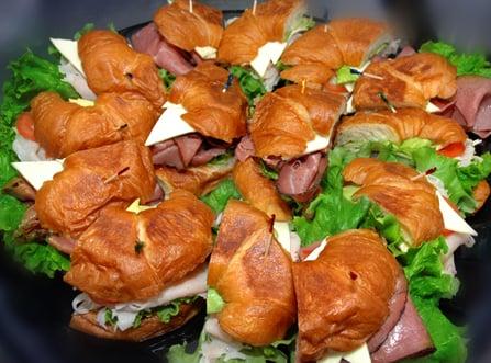 how to make croissant sandwich platter