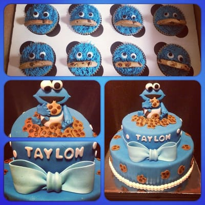 cookie monster baby shower cake yelp
