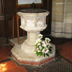 Font - a Victorian replacement for the mediaeval original