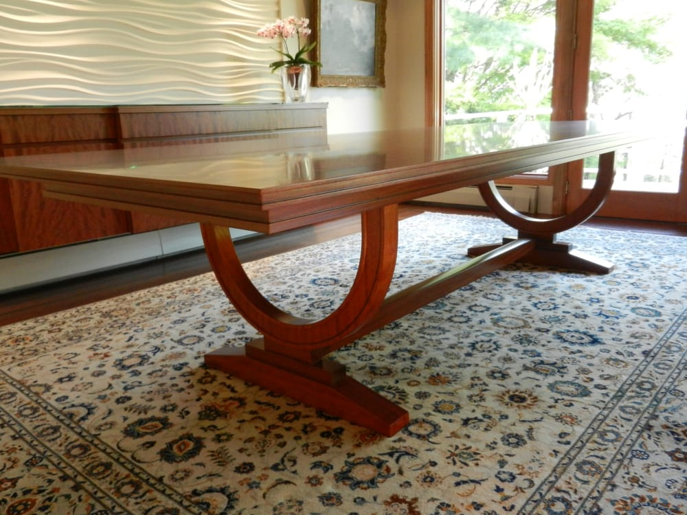 Custom 12 ft dining room table with inlay border yelp for 12 foot long dining room table
