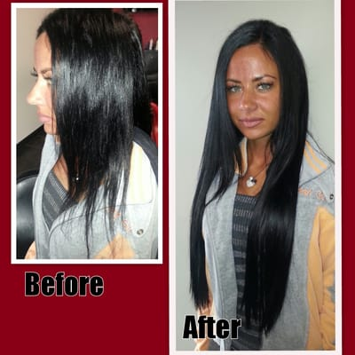 before amp after hair extensions 22 inches yelp