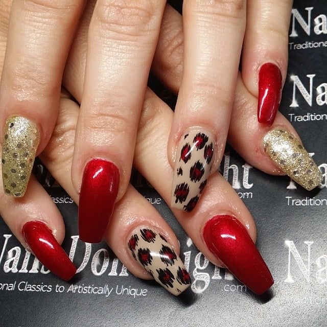 Coffin Nails Stiletto With Square Tips Yelp