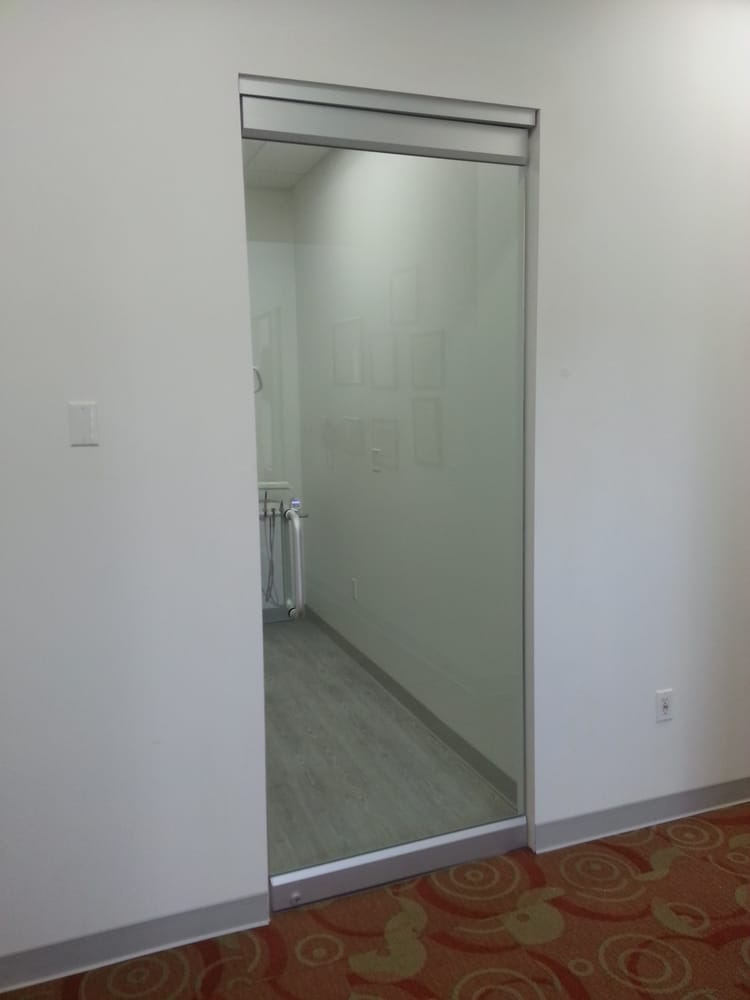 Herculite frameless commercial glass door yelp for Frameless glass doors