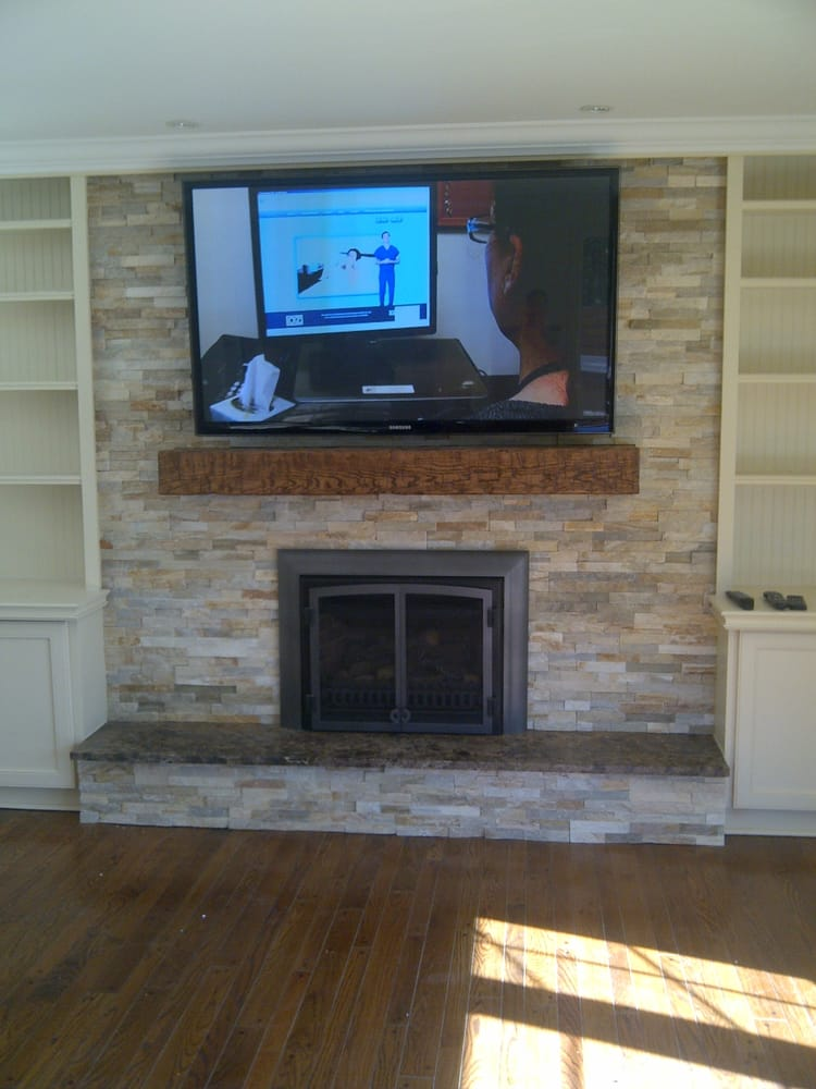 58 Tv Install Above Fireplace Mantel Yelp