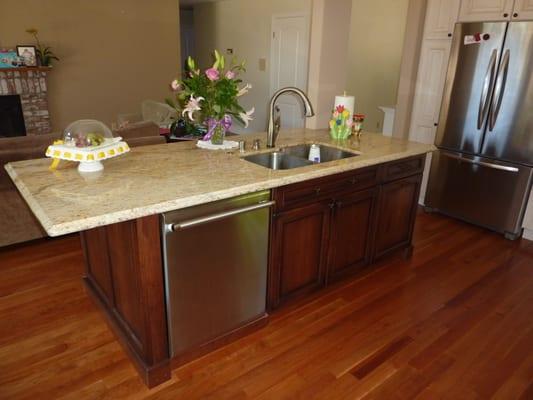 island sink and dishwasher yelp