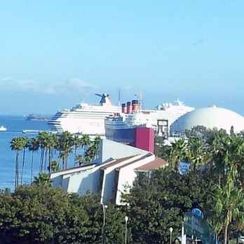 ... Carnival Cruise Ship in the background from Marriott Residence Inn