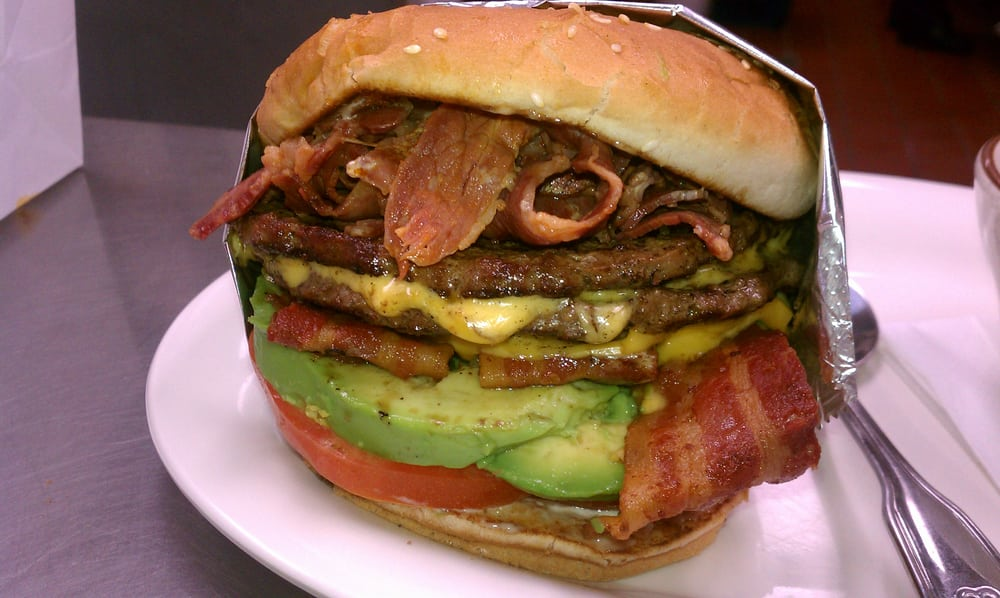 Double Bacon Avocado Pastrami Cheeseburger! | Yelp