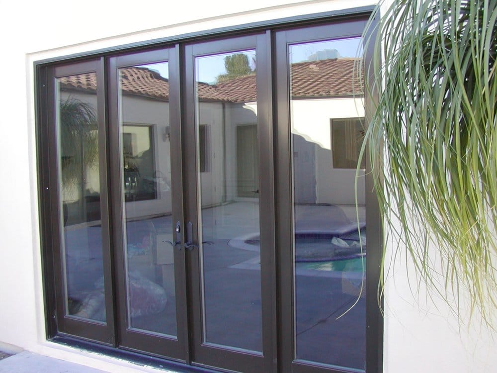 Bronze fieberglass double french doors with sidelites yelp for Windows and doors near me