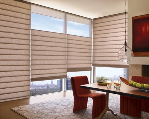 Hunter Douglas Vignette Roman Shades With Top Down Bottom