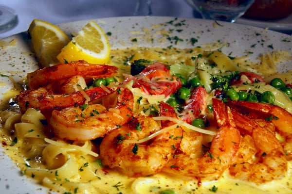 Peppered Shrimp Alfredo | Yelp