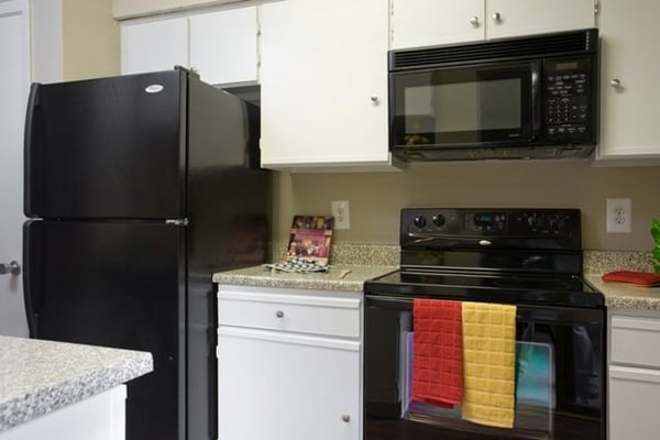 white kitchen cabinets with black appliances Car Tuning