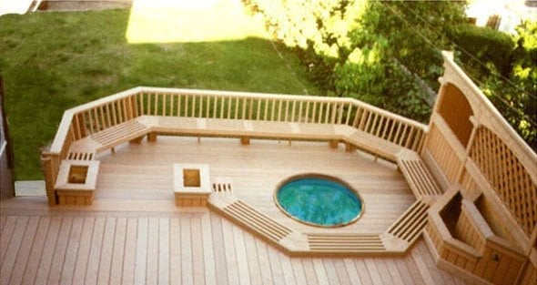 New Wood Deck And Hot Tub Yelp