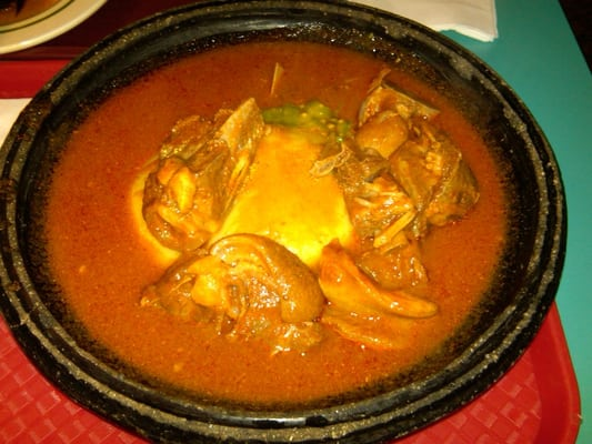 Fufu with goat meat and okra yelp for African cuisine near me