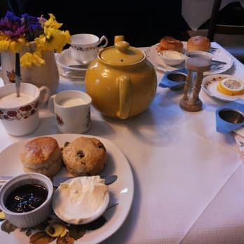 Amazing tea and fresh baked scones
