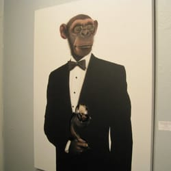 Portrait of monkey Arts Factory Las Vegas