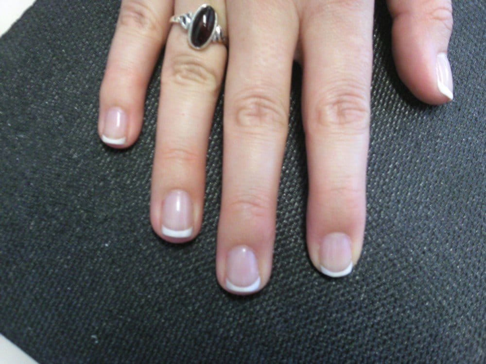 manicure on my natural nails, using the Shellac gel polish | Yelp