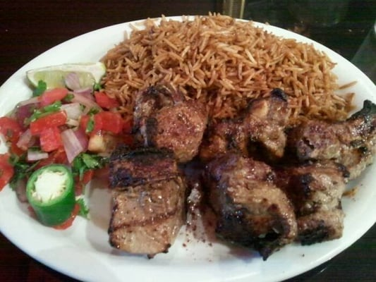 Triple kabobs beef chicken and ground sirloin yelp for Afghan kebob cuisine menu