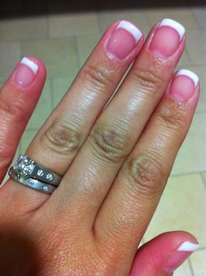 Gel french manicure by Valerie. | Yelp