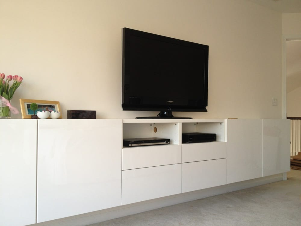Besta low wall unit yelp - Meuble tele blanc ikea ...