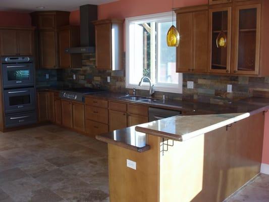 travertine floors granite slab custom cut slate backsplash yelp