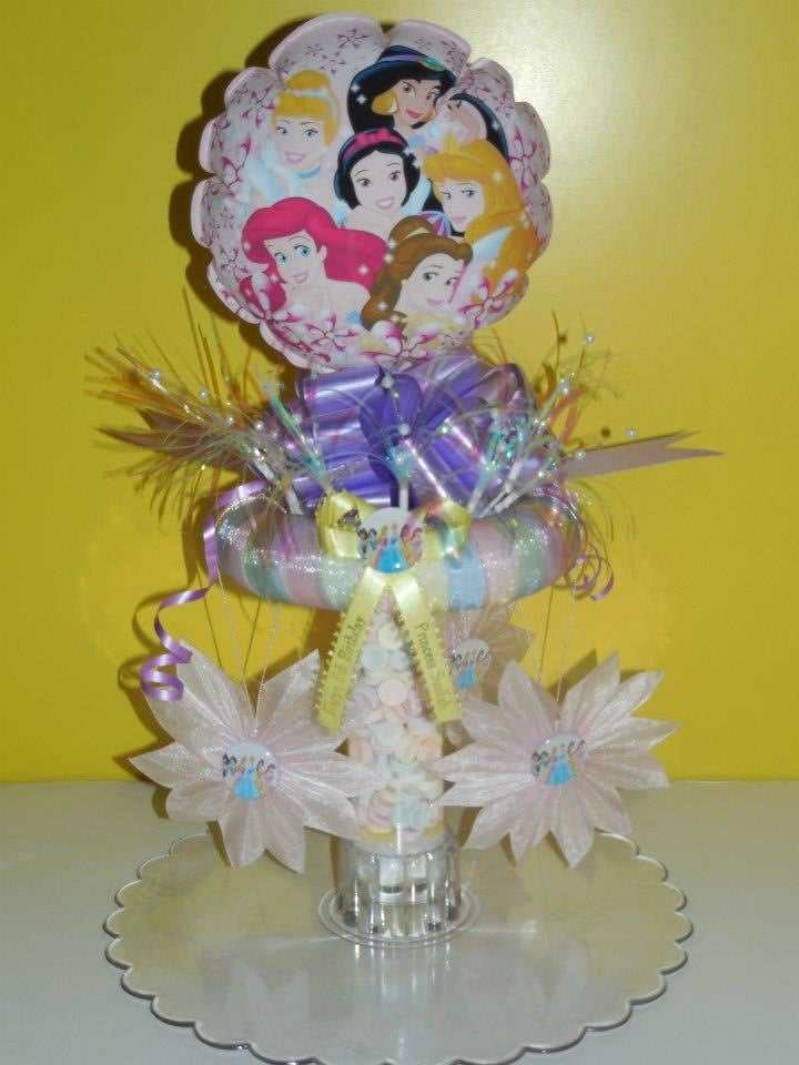 Disney princess candy filled centerpiece yelp
