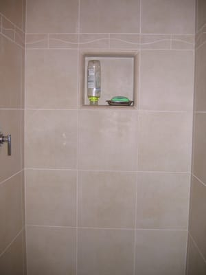 master bath shower with shampoo shelf insert yelp modal title