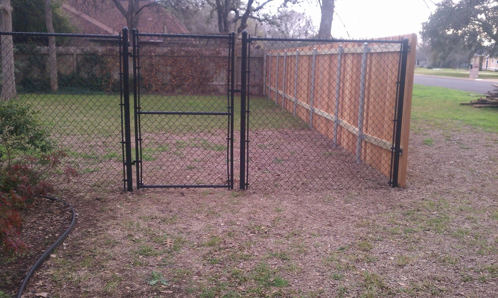 Black vinyl coated chain link fence yelp