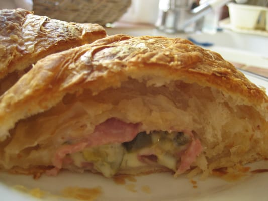 the ham and cheese jalapeno croissant I brought home!!! | Yelp