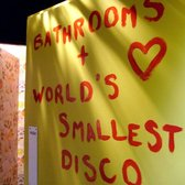 world's smallest disco! boomboomboom in the bathroomroomroom