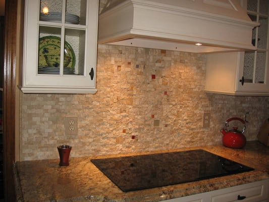 Split Backsplash Kitchen Backsplash With Split Face Stone